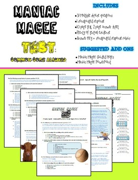 Maniac Magee - Test (Common Core Aligned)