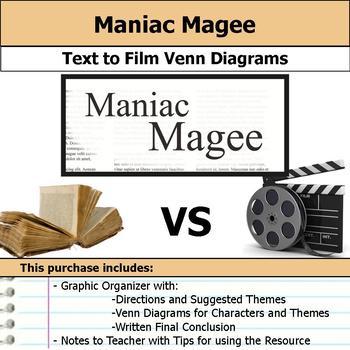 Maniac Magee - Text to Film Venn Diagram & Written Conclusion