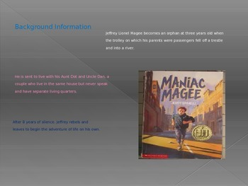 Maniac Magee Unit Power Point