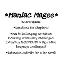 Maniac Magee Unit of Study!
