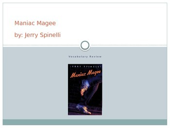 Maniac Magee Vocabulary PowerPoint