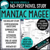 Maniac Magee Novel Study - Distance Learning - Google Classroom