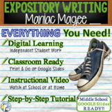 Maniac Magee   Citing Text Evidence Expository Essay Writing   Print and Digital