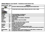 Maniac Magee vocabulary defined/answer key