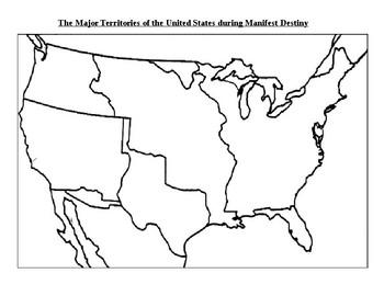 Manifest Destiny: Acquiring new lands map and organizer