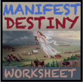 Manifest Destiny Activity Worksheet CCLS