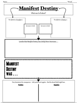 an introduction to the history of manifest destiny Manifest destiny - the philosophy that created a nation this paper takes a philosophical view of the manifest destiny phenomenon and attempts to provide logical evidence that manifest destiny can be argued as the sole reason for why america itself has a history.