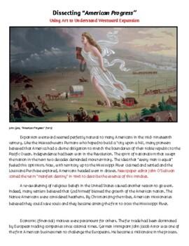 Manifest Destiny: Art History Analysis Activity