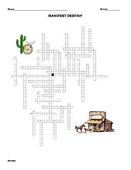 Manifest Destiny Crossword Puzzle
