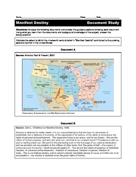 Manifest Destiny Document Study