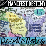 Manifest Destiny Doodle Notes and Digital Guided Notes