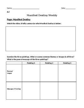 Manifest Destiny Flipped Classroom Webquest