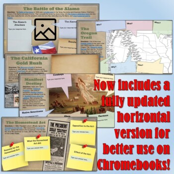 Manifest Destiny Google Drive Interactive Notebook for Distance Learning