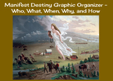 Manifest Destiny Graphic Organizer - Who, What, When, Why,