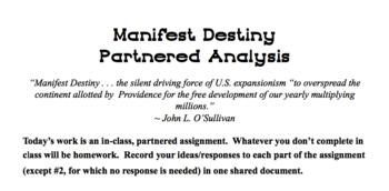 Manifest Destiny In-Class Assignment