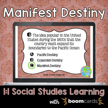 Manifest Destiny Interactive Task Cards