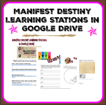 Manifest Destiny Learning Stations in GOOGLE DRIVE
