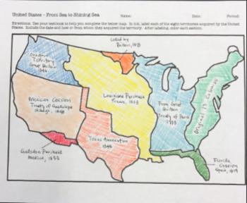 Manifest Destiny Map Manifest Destiny   Map  From Sea to Shining Sea! by Historically  Manifest Destiny Map