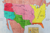 Manifest Destiny Map - Leveled Geography Activity
