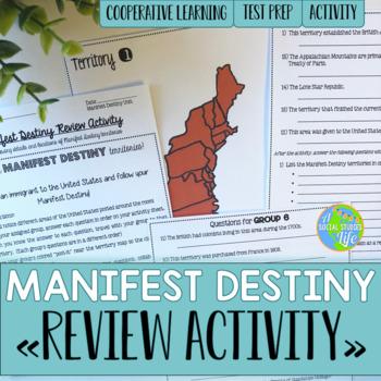 Manifest Destiny Map Review Activity