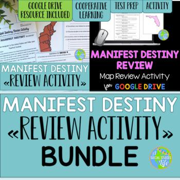 Manifest Destiny Map Review Activity BUNDLE