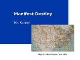 Manifest Destiny Map, Worksheet and Presenation
