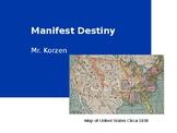 Manifest Destiny Map, Worksheet and Presenation