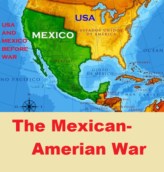 Manifest Destiny Mexican American War Detailed Lesson Plan - Us-map-before-mexican-american-war