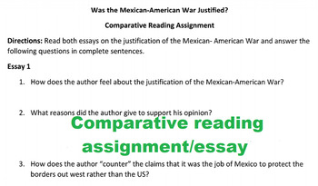 Manifest Destiny- Mexican American War DETAILED LESSON PLAN with QUIZ!