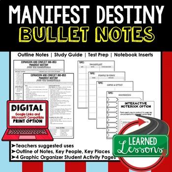 Manifest Destiny Outline Notes JUST THE ESSENTIALS 1818-1853