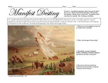 Manifest Destiny Painting Annotation by The History Teacher's Toolbox