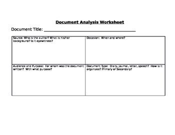 Manifest Destiny Primary Document and Analysis Sheet--Common Core!