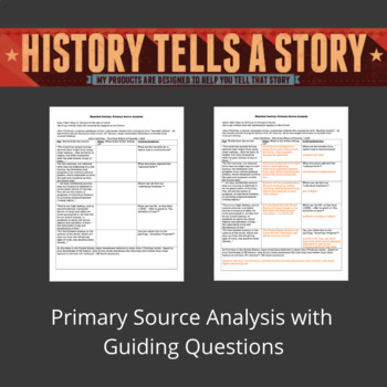 Manifest Destiny - Primary Source Analysis