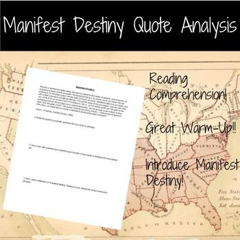 Manifest Destiny Quote Analysis