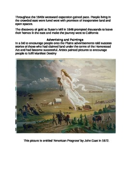 Manifest Destiny: Reading, Quotes, and Questions