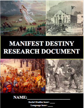 Western Expansion: Manifest Destiny Research Project