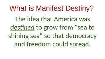 Manifest Destiny (Scavenger Hunt/Document Analysis) Lesson Powerpoint