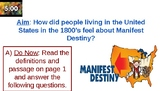 Manifest Destiny (Scavenger Hunt/Document Analysis) Lesson