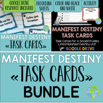 Manifest Destiny Task Cards BUNDLE