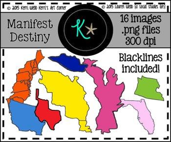 Manifest Destiny Territories Clip Art