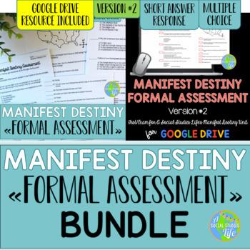 Manifest Destiny Test - Version #2 BUNDLE