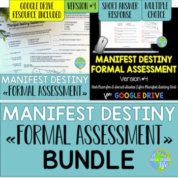 Manifest Destiny Test - Version #4 BUNDLE