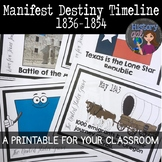 Manifest Destiny Timeline {A Printable for Your Classroom}