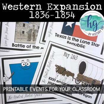 Manifest Destiny Timeline {A Printable for Your Classroom}