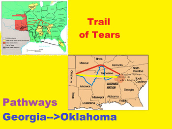 Manifest Destiny- Trail of Tears/Indian Removal Act LESSON PLAN WITH QUIZ