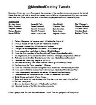 Manifest Destiny Tweets