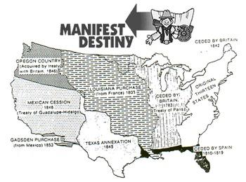 Manifest Destiny Gold Rush, Mexican-American War - HOMEWORK and EXAM BUNDLE