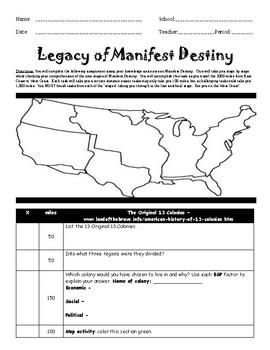 Manifest Destiny WebQuest
