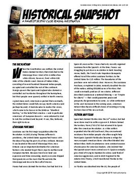 Manifest Destiny Westward Expansion Historical Snapshot Close Reading