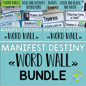 Manifest Destiny Word Wall BUNDLE